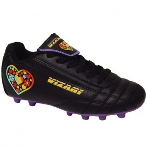 SALE - Kids Vizari Harmony Soccer Cleats Black Leather - Was $23.99 - SAVE $4.00. BUY Now - ONLY $19.99