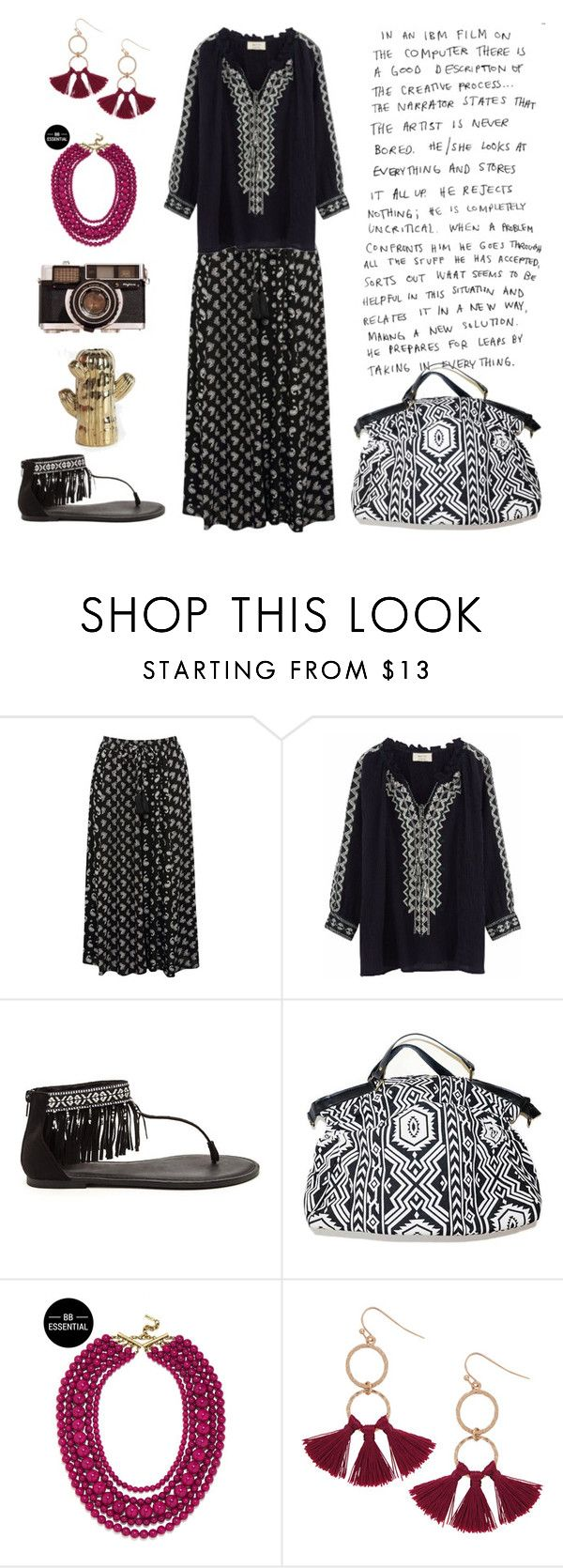 086. Summer Boho capsule for Pure Spring. Day 2 by sollis on Polyvore featuring мода, BA&SH, M&Co, BaubleBar, Humble Chic and Temerity Jones