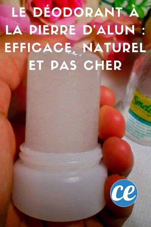 Le Déodorant à la Pierre d'Alun : Efficace, Naturel et pas Cher.
