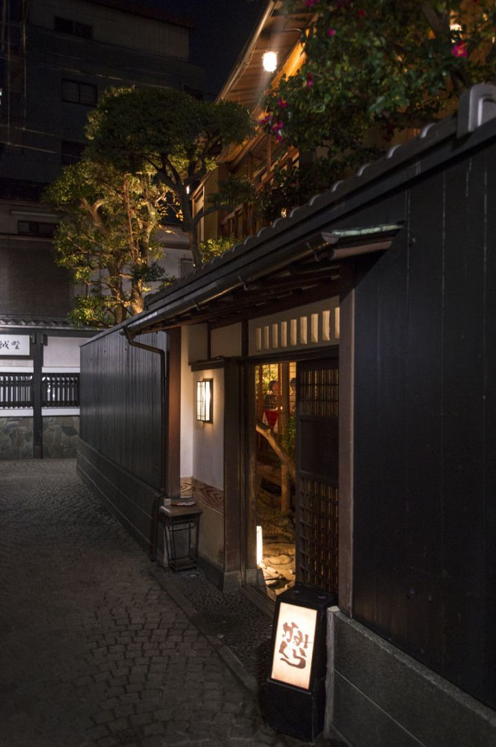 Kagurazaka, Tokyo, Japan. Looks a bit like a Ryotei (fancy traditional restaurant).
