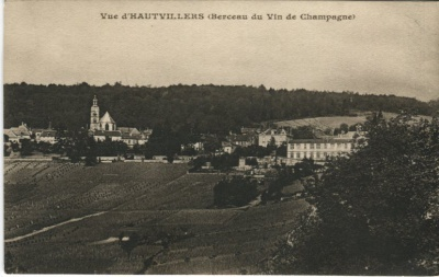 Moet & Chandon Postcard - Vue d'Hautvilliers (Berceau du Vin de Champagne)