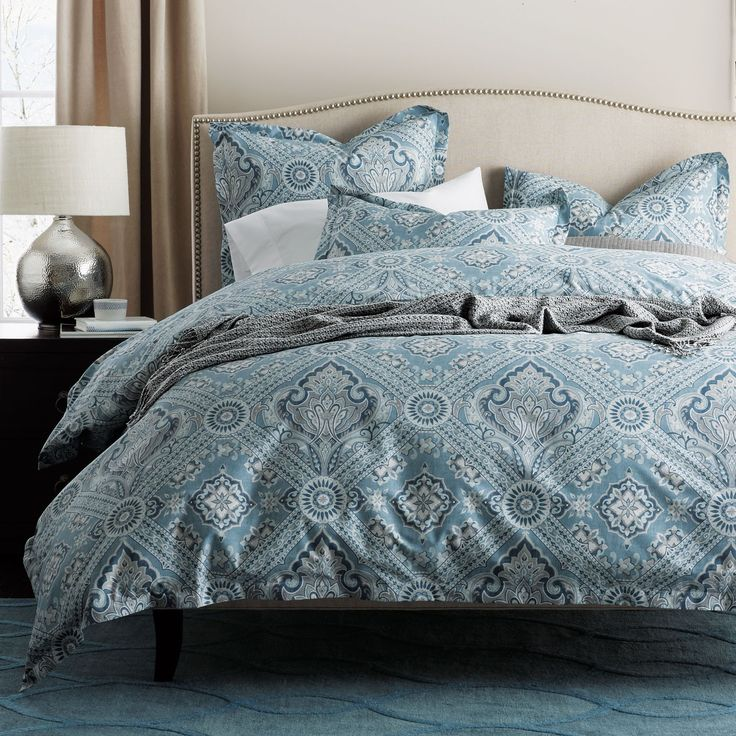 Portsmith Wrinkle-Free Sateen Duvet Cover | The Company Store