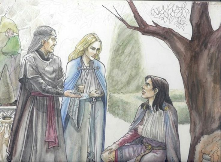 The Houses of Healing, by Hope Hoover. Both Faramir and Eowyn are similar to how I imagined them.