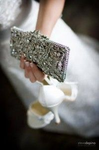 vintage jeweled wedding clutch
