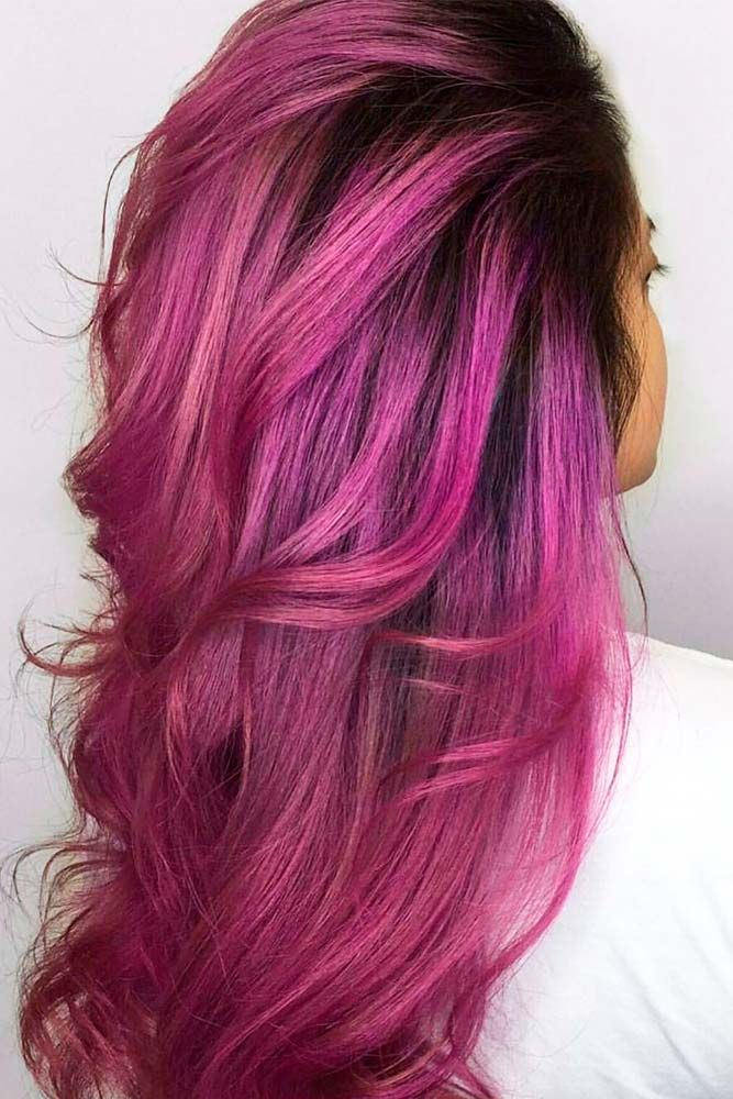 25 unique crazy hair color ideas for brunettes ideas on pinterest 21 loveliest magenta hair color ideas urmus Choice Image