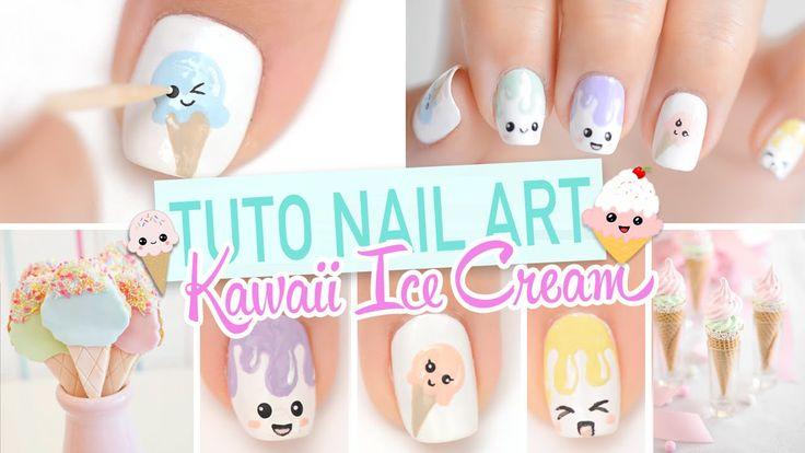Nail art ♡ Glaces Kawaii