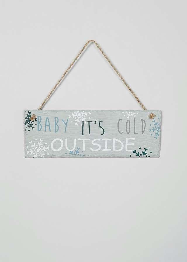 Christmas Bedroom Slate Sign (25cm x 9cm) View 1