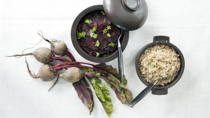 Varm rødbetsalat med bokhvetegrøt