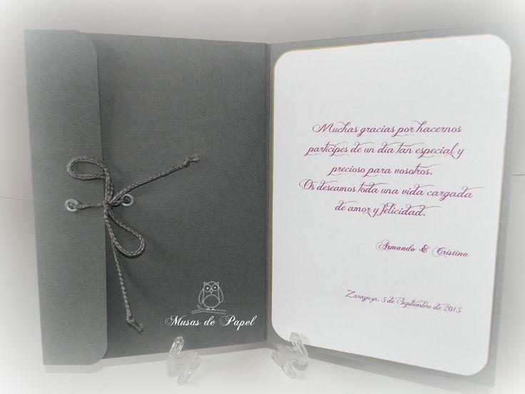 Tarjeta porta regalo para boda