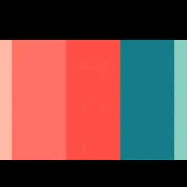 Coral Turquoise Color Scheme House Spring Decor