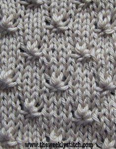 Knot Stitch - Apenas a quantidade certa de textura para um campo de meia.
