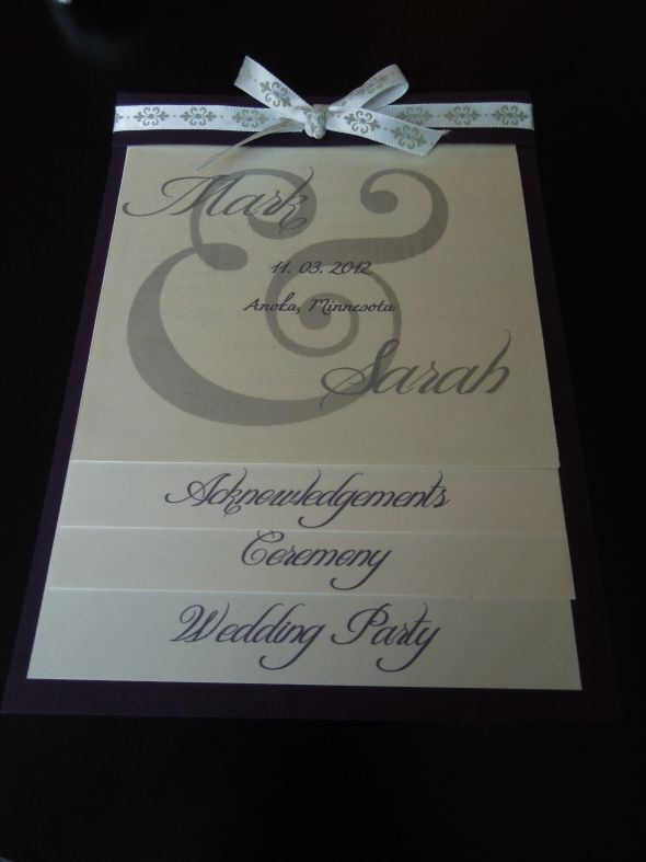 DIY Wedding Programs  the mcbaileys
