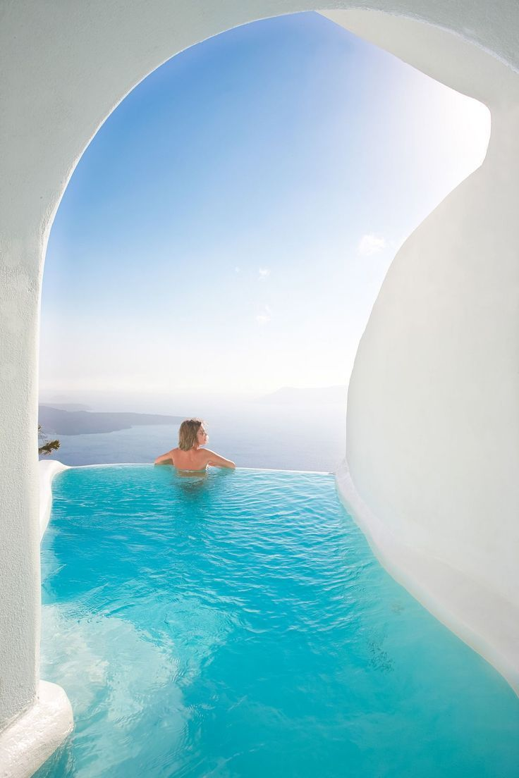 12 Sensational Cave Pools in Santorini Greece. Breathtaking.