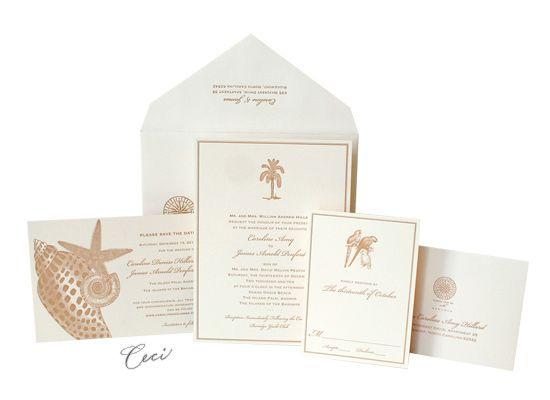 Del Mar   Luxury Wedding Invitations   Ceci Ready To Order Collection    Ceci Wedding   Ceci New York