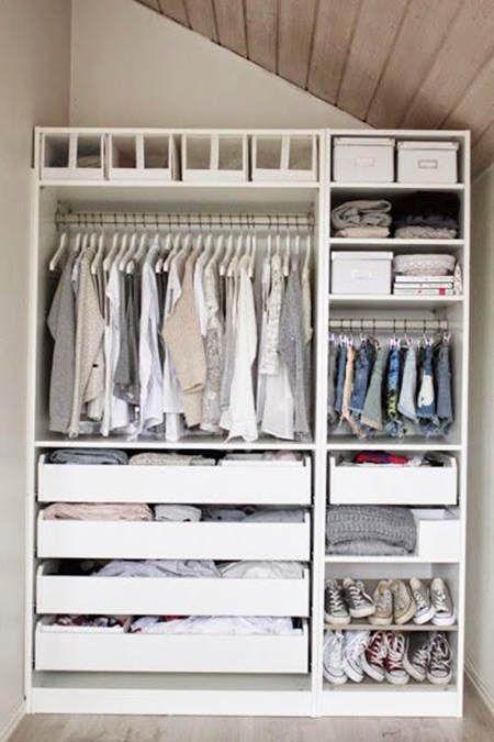 Almacenaje en habitaciones infantiles: almacenaje en interior de armario #almacenaje #ninos