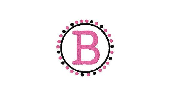 INSTANT DOWNLOAD Pink and Black Dots Frame by EmbroideryFirst, $2.99