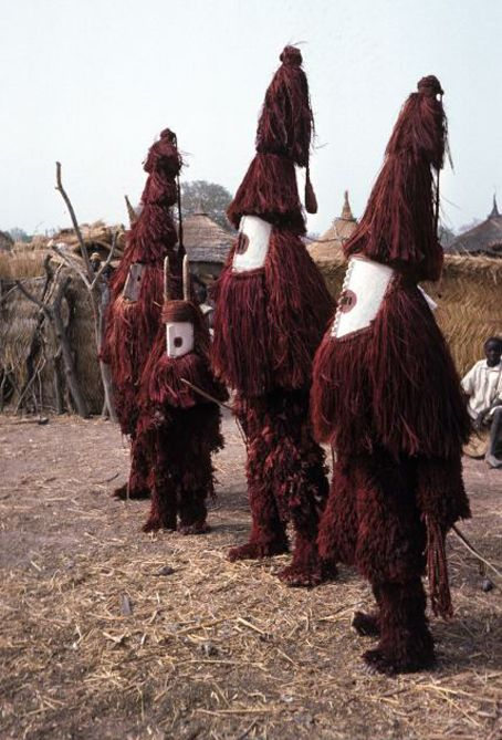Mossi masks performance in the village of Zeguedeguin, far eastern Mossi area Burkina Faso, 1977 & 2011 shot by Christopher D. Roy, Professor of Art History, University of Iowa