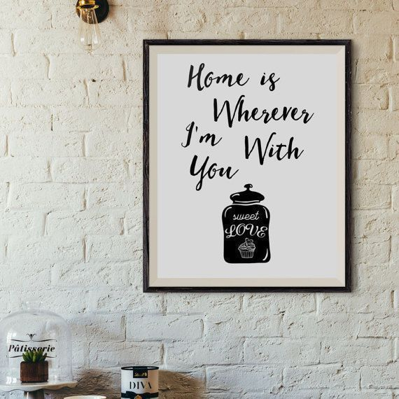 Valentine's Day     QUOTATION – Image :     Quotes about Valentine's Day  – Description  Printable romantic quote Gift for wife Home is by AlniPrints #romantic #Valentine #day #print #large #quote #love #DIY #handmade #printable #wife #boyfriend #girlfriend #quote #card...