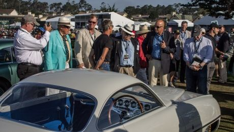 1953 Fiat Abarth 1100 Sport Ghia coupe wins 2 awards at Pebble Beach Concours d'Elegance. For more visit: http://www.cbc.ca/news/canada/calgary/calgary-man-s-ultra-rare-fiat-abarth-delights-car-lovers-at-prestigious-auto-show-1.3199691