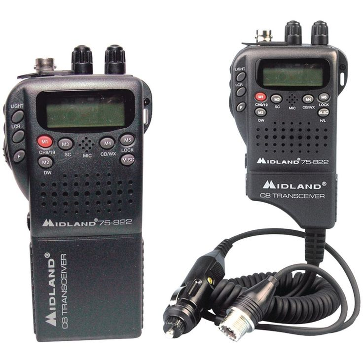 Midland Handheld 40-channel Cb Radio With Weather And All-hazard Monitor & M
