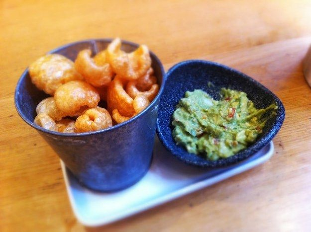 Guacamole with pork scratchings at Wahaca, Covent Garden | 19 Dreamy London Avocado Dishes