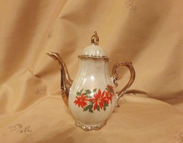 Brinn's Poinsettia Teapot Japan