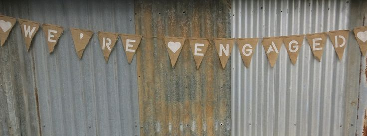 Hessian, Lace, Floral bunting for weddings, birthday and special event. Table cloths for hire, various sizes