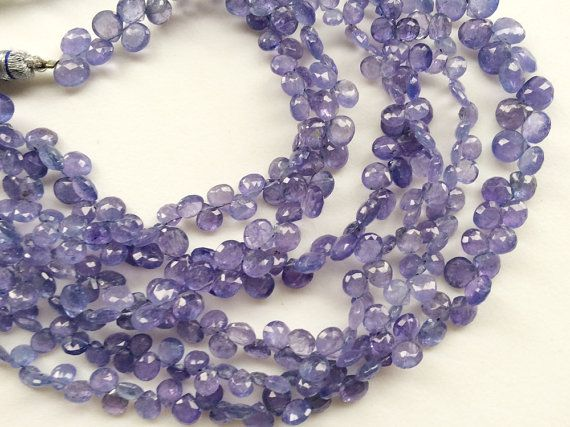 Tanzanite Beads Natural Tanzanite Faceted Heart by gemsforjewels