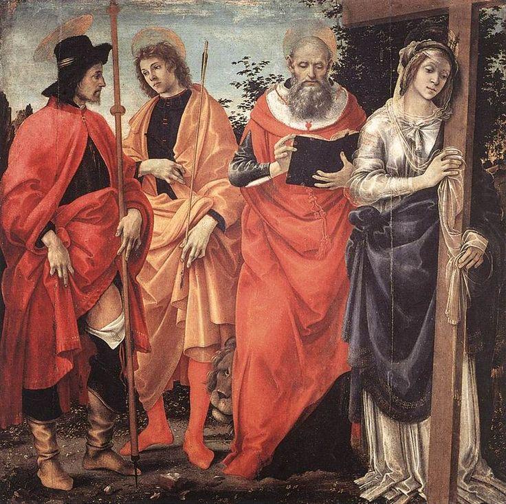 198. Filippino Lippi - Pala Magrini - 1483 ca -  Lucca, Chiesa di San Michele in Foro