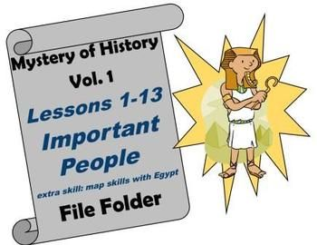 This a fabulous resource to help review all of the important people read about in these lessons! This can also be a great activity to help in preparation for a test. This download includes: *all game pieces *answer key *pages for 2 games (important people & Egypt map skills) *labels for manila file folder Extra supplies needed: 1 manila file folder and 1 small plastic baggie Enjoy!