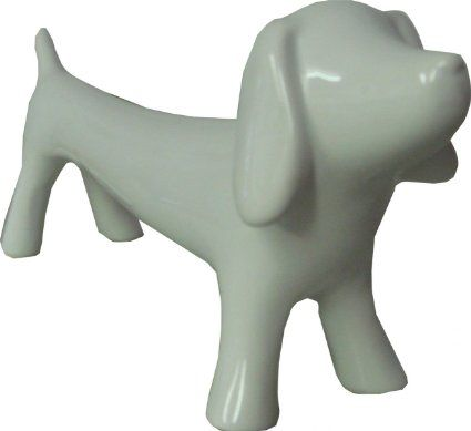 Home Furnishings Pottery Standing Sausage Dog Ornament White 24cm: Amazon.co.uk: Kitchen & Home
