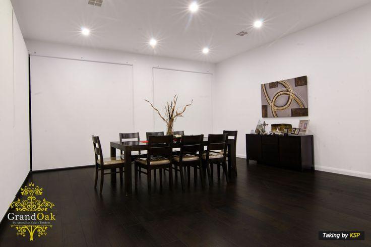 Grand Oak Timber Flooring: Burnt Oak Dining Room