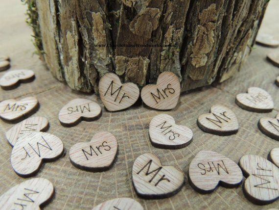 mr mrs wood hearts wood burned pack of 100