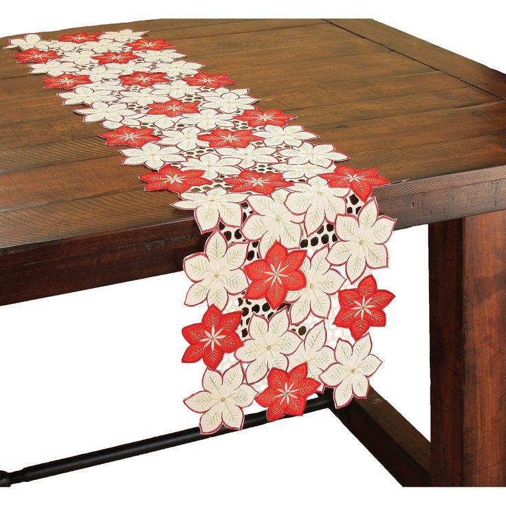Pretty Poinsettia Holiday Table Runner - Google Search