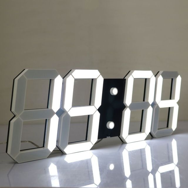 Check lastest price Outdoor indoor Led Digital Wall Clock with Date Temperature Remote Control 3D Cutout Countdown Timer Stopwatch Clock just only $75.24 with free shipping worldwide  #clocks Plese click on picture to see our special price for you