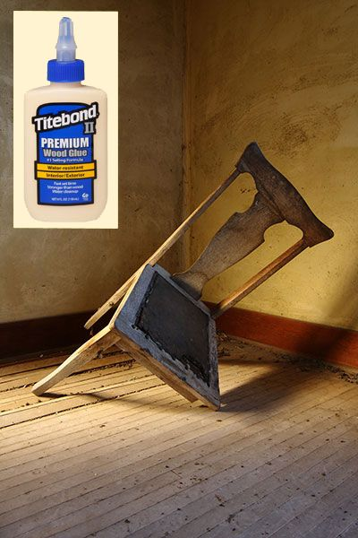 To secure wood carvings, loose dowels, or pieces of veneer that have come loose, use a regular water-based wood glue from the hardware store, like Titebond.