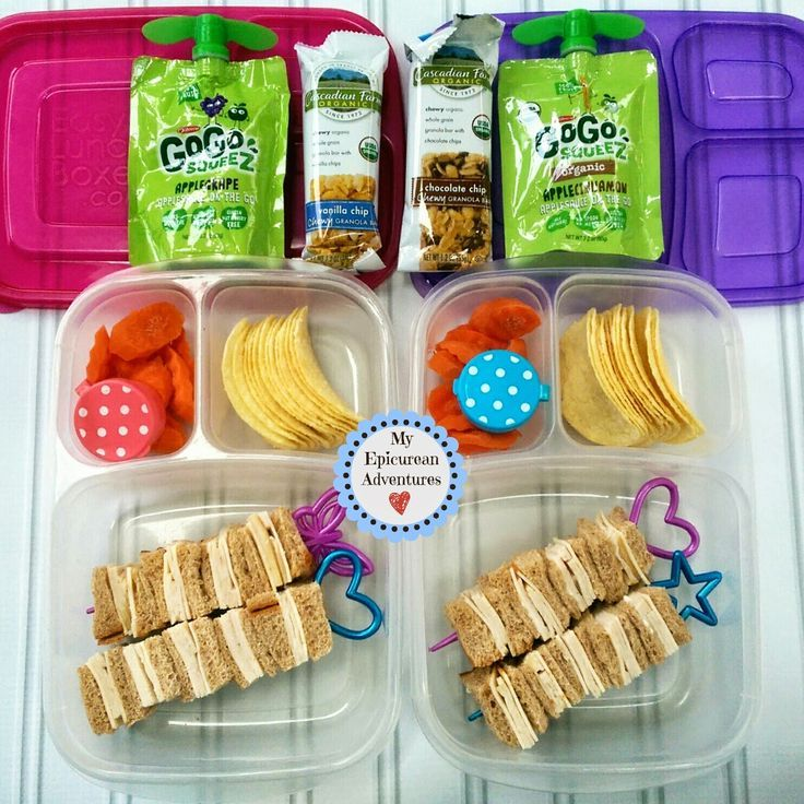Fun sandwich idea for school! Sandwiches on a stick! Packed fast in @easylunchboxes