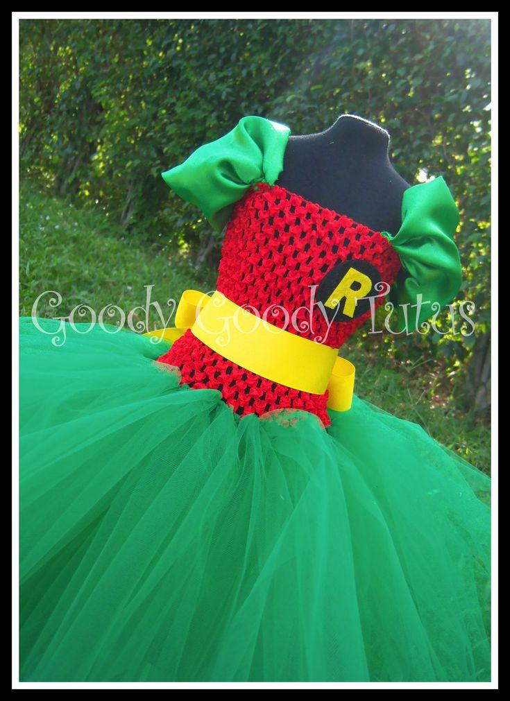 ROCKIN ROBIN Batman and Robin Inspired Tutu Dress -