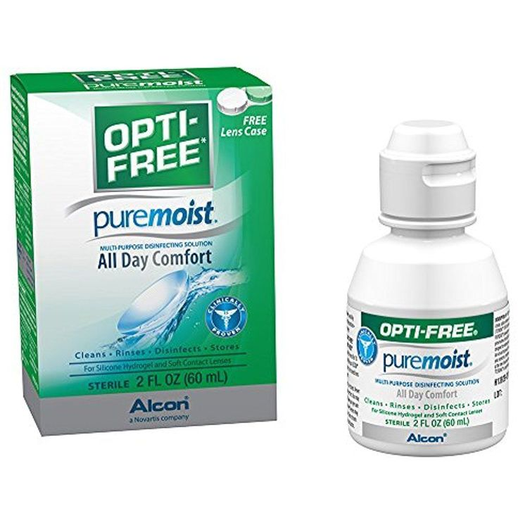 Opti-free Pure Moist Solution For Silicone Hydrogel and Soft Contact Lenses 2 Oz #OptiFree