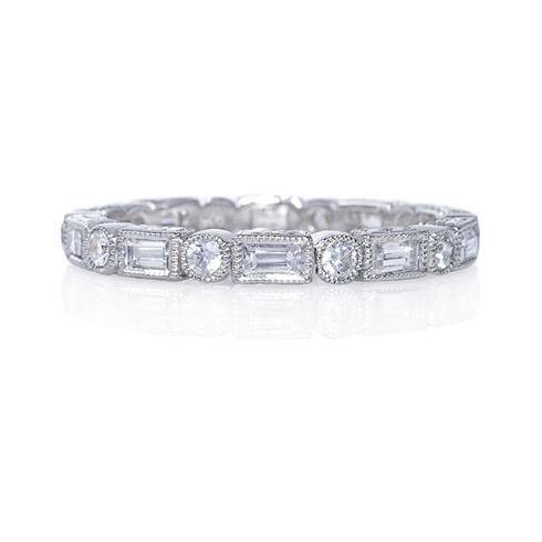 Beverley K Baguette and Round Diamond Eternity Band...