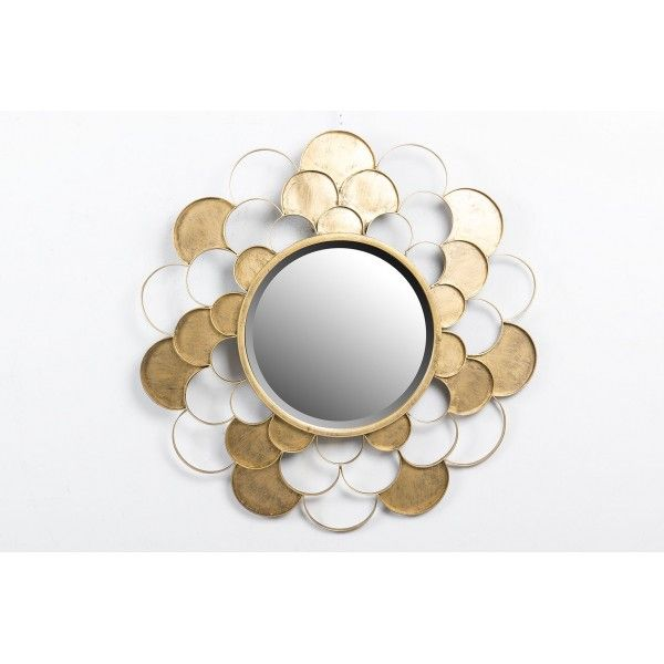 Oglinda GOLD METAL MIRROR 74x4,5x74 CM