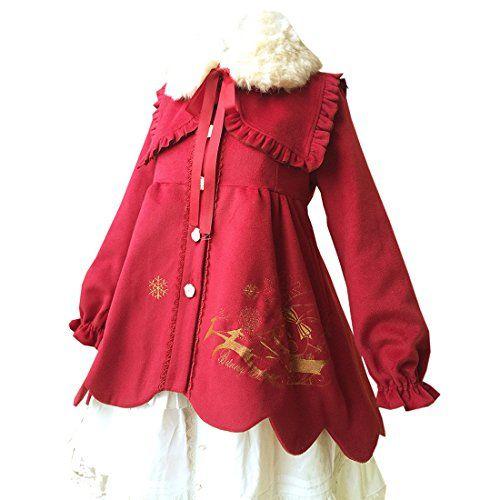 Partiss Damen Sweet Lolita Wollmischung Windschutz Parka Kunstpelz Windcoat Mantel Rot Weihnachtskleid Lolita Overcoat Partiss http://www.amazon.de/dp/B018Z2BYGS/ref=cm_sw_r_pi_dp_LXOywb159DGJ2