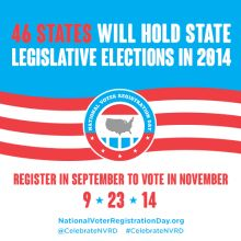 Participate in National Voter Registration Day!