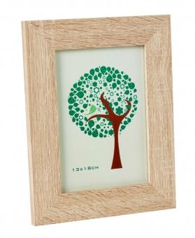 Bilderrahmen+Holz,+natur,+13+x+18+cm+-+Dieser+Holzrahmen+verleiht+Ihren+Bildern+einen+besonderen+Ausdruck.Geeignet+für+Bilder+der+Größe+13+x+18+cm.+Der+Rahmen+kann+gestellt+als+auch+hochkant+an+die+Wa