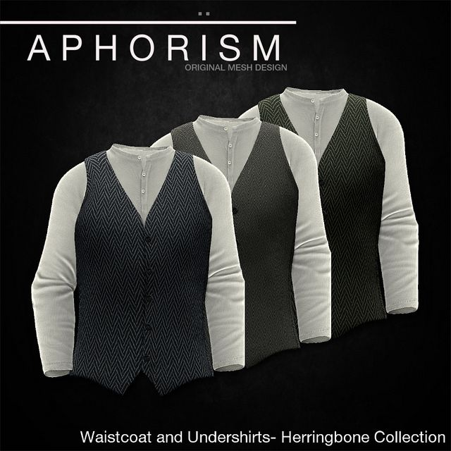 !APHORISM! WAISTCOAT HERRINGBONE COLLECTION | Flickr - Photo Sharing!