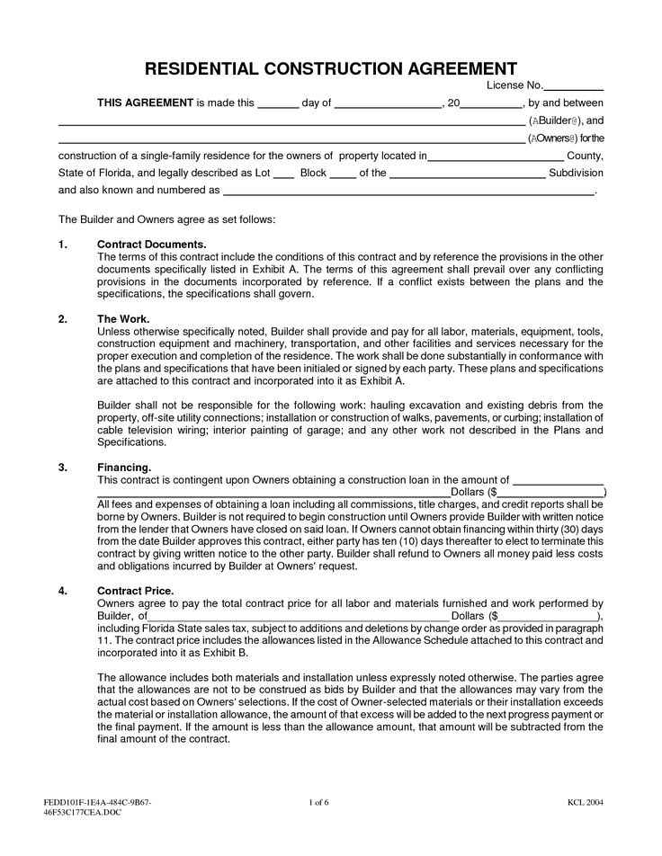 Work Contract Template Legal Contracts Agreements Clauses From