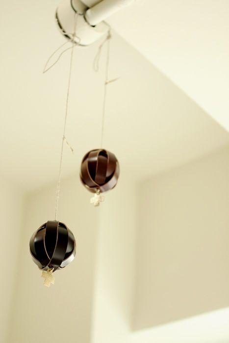 Cordovan Leather Ball Ornament - IRRE