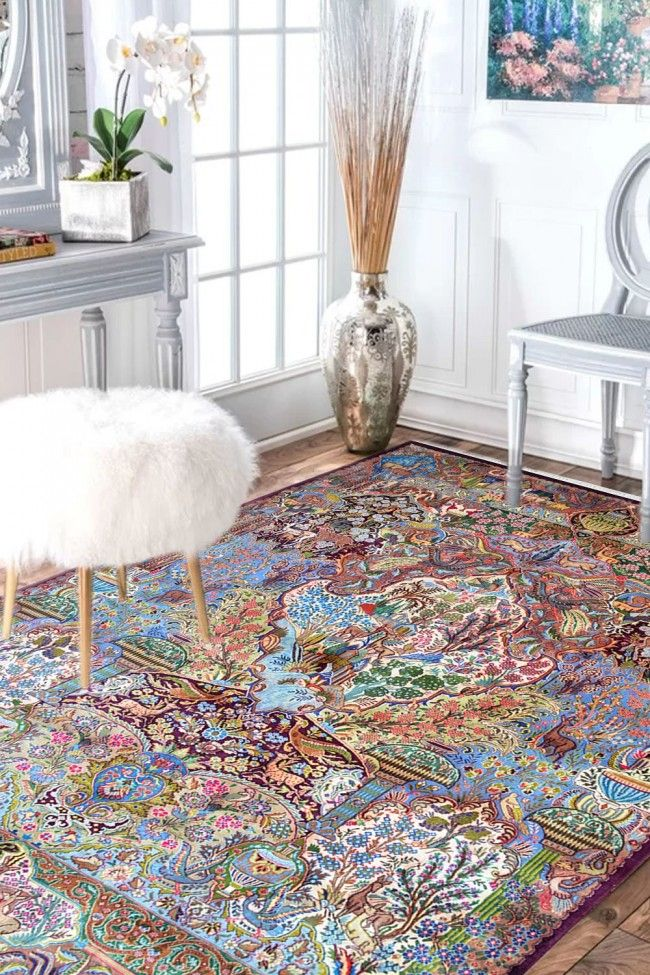 Buy This Most Beautiful Victorian Hunting Persian Wool Carpet