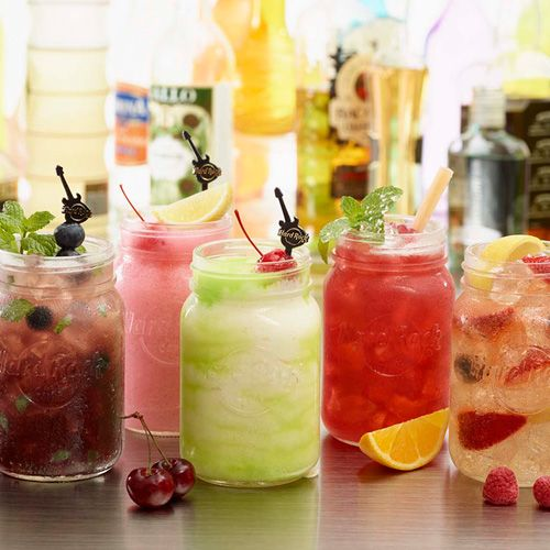 Summer cocktails just hit the cafe! Ride through summer with frozen and stirred drinks all season #ThisIsHardRock #MasonJar #Summer #Manchester