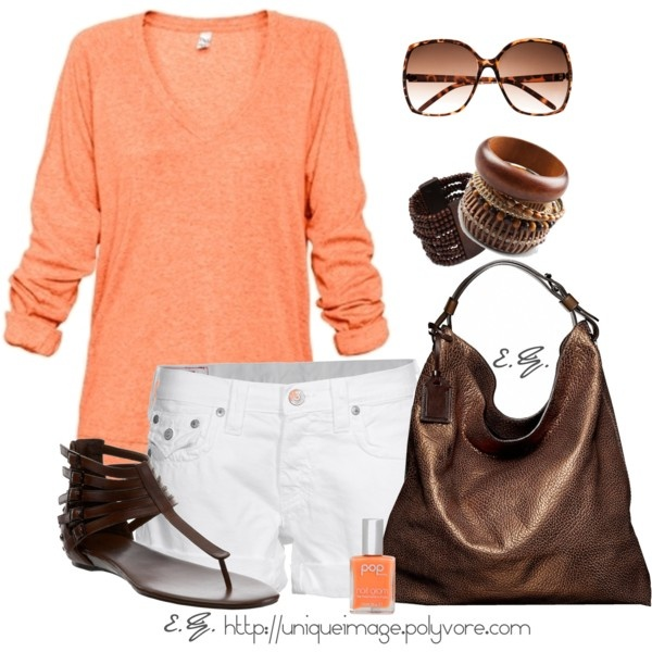 Lovely. And perfect for anything.Fashion Outfit, Orange Crushes, Summer Outfit, Style, Clothing, Night Outfit, White Pants, Spring Casual, Spring Outfit
